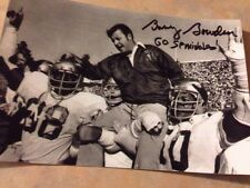 BOBBY BOWDEN  Signed AUTO 4x6  Photo FLORIDA STATE With Inscription