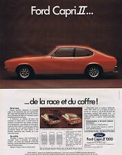 PUBLICITE ADVERTISING 045 1974 FORD Capri II 1300