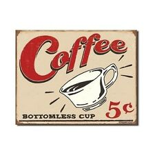 Vintage Coffee Metal Tin Sign Retro Wall Art Home Kitchen Office Den Decor New