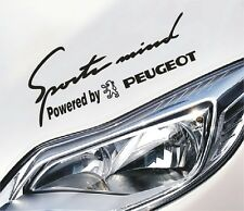 Sports Mind Powered by Peugeot Aufkleber Sticker 106 206 207 306 307 3008 407