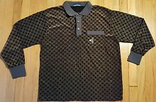 Vintage MONTAGUT shirt M L 70s 80s long sleeve disco polo France dress rugby