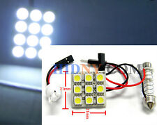 T10 9-SMD 5050 PCB Super Bright LED T10 and Universal Dome Adapter WHITE