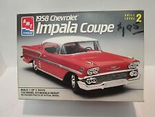 1958 Cevrolet Impala Coupe Model Kit AMT ERTL 1/25 #6548, Sold for Parts Only