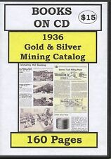 1936 Gold & Silver Mining Catalog : Darrell Huffman : Books on CD