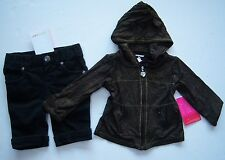 NWT Amy Coe 3-6 Months Black & Gold Glitter Hoodie and Black Jeans