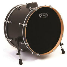 RMV Bass Drum Fell FX -Black Single-Ply w/Ring 22""