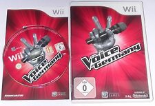 "NINTENDO WII SPIEL"" THE VOICE OF GERMANY VOL. 2 "" OVP + ANLEITUNG"