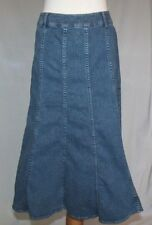 Charter Club Long Denim Skirt 12 A Line Blue Jean Modest No Slits T03
