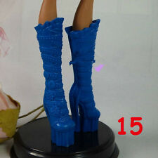 "New Knee High Shoes Boots Heels for 11"" Monster High Dolls Accessories 15#"