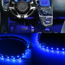"2X 12"" LED BLUE INTERIOR STRIP FOOTWELL LIGHTS UNDER DASH BULB SMD EXTERIOR KP"