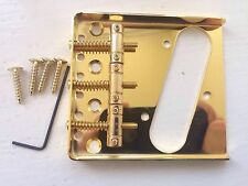 3 SADDLE GOLD CHROME ASHTRAY BRIDGE FOR FENDER TELECASTER