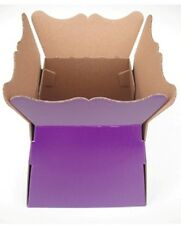 HAND TIED BOUQUET FLOWER OR  PLANT PRESENTATION BOX - PURPLE