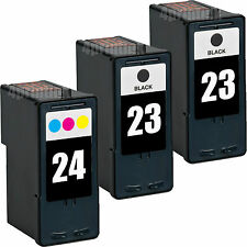 3 Pack 23 24 Black/Color Ink For Lexmark Z1410 Z1420 X3530 X3550 X4530 X4550