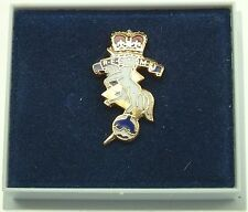 REME ROYAL ELECTRICAL MECHANICAL ENGINEERS CLASSIC GOLD PLATED LAPEL PIN BADGE