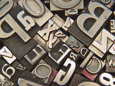 Box of Mixed Metal Type #34 - Printers Type - Letterpress Type from 1950's