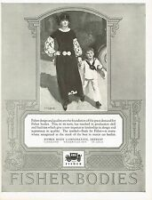 1920s BIG Vintage Fisher Body McClelland Barclay Mother Son Fashion Art Print Ad