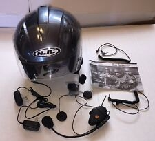 Motorcycle Helmet with Cardo Scala Rider Q2 MultiSet Bluetooth Headset Package