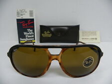 New Vintage B&L Ray Ban Traditionals Style B Black Tortoise B-15 L1672 Aviator