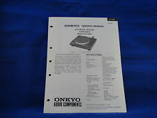 Onkyo CP-1100A Turntable Service Manual