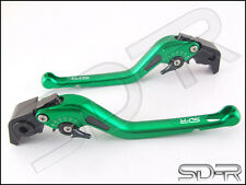 1992- 2011 Honda CB400F Vtec Carbon Fiber inlay Long SDR Adjustable Levers Green