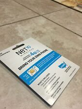 NET10 Prepaid Nano Size SIM Card with $40 Plan(Read Description