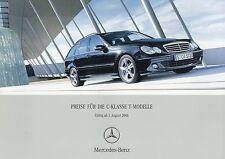 Preisliste Mercedes C-Klasse T-Modell 1.8.06 2006 Autopreisliste C 230 280 350