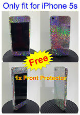 iPhone 5s * SPARKLES * RAINBOW  * Sticker for i5s Full Body Skin