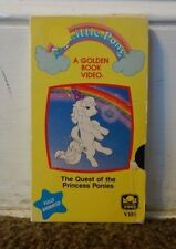 My Little Pony The Quest Of The Princess Ponies Rare & OOP Golden Book Video VHS