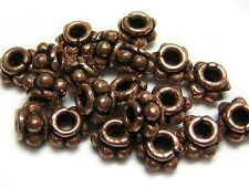 6x4mm Copper Bali Style Spacer Beads Solid Copper (20) #3110