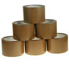 "24 Rolls 1.8 Mil 3""  100 Yards Carton Sealing Shipping Tape Tan Mail Packaging"