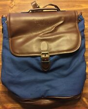 Disney Vacation Club Large Backpack Tote Travel Carry-On Bag Brown & Navy Blue