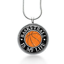 Basketball is My Life Necklace, Sports Pendant, Hoops,gifts for women,jewelry