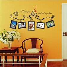 Removable Love Birds Photo Picture Frame Wall Sticker Vinyl Art Decal Home Decor