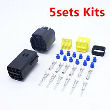 5sets Kits 4pin way Super Sealed waterproof car electric wire connector plugs