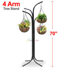 Outdoor Plant Stand Hanging Holder Baskets Patio Garden Decor Planter Flower