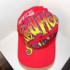 Coca Cola Red Hot Summer Vtg Snapback Hat Cap The Game Big Logo Soda Pop Coke