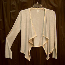 GRAY OPEN DRAPE FRONT SOFT STRETCH KNIT CARDIGAN JACKET SWEATER WRAP TOP~M~NEW