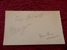 LAURENCE OLIVIER - PEGGY ASHCROFT - RENE RAY  ACTORS AUTOGRAPHS