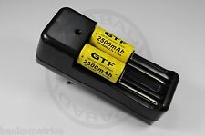 "2 PILES ACCUS RECHARGEABLE CR123A 16340 3.7V 2500mAh + CHARGEUR "" RAPIDE """