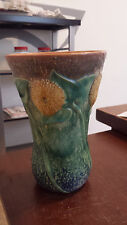 ANTIQUE ROSEVILLE SUNNY FARM SUNFLOWER ART DECO POTTERY FLOWER GARDEN VASE