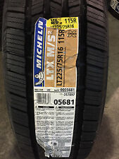 4 New LT 225 75 16 LRE 10 Ply Michelin LTX M/S2 Tires