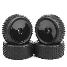 4X Rubber Front&Rear Tires &Wheel Rim For RC 1:10 Off-Road Buggy Car