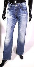 Gj5-12 zara trf Jeans Femmes bleu taille 38 l34 low rise large coupe droite jambe ripped