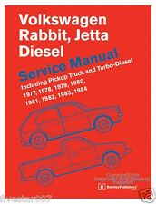 nEw Bentley Repair Guide Service Manual VW Jetta Rabbit Pickup A1 Diesel Turbo