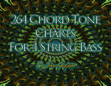 264 4 STRING BASS CHORD TONE CHARTS MUSIC THEORY ADVANCED FRETBOARD MASTERY