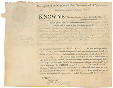 Benjamin Franklin DS: Revolutionary War bounty land grant beautifully signed