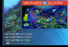 2010 TWO Large UN FDC - Geneva Office - One Planet/One Ocean