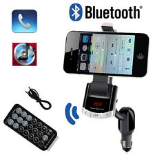 Car Kit Bluetooth Handsfree FM Transmitter Charger MP3 Player Phone Holder
