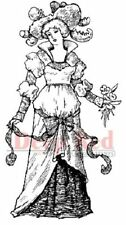 Deep Red Rubber Cling Stamp Countess Victorian Woman of High Fashion