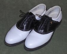 FOOTJOY CLASSICS USA MADE SADDLE GOLF SHOES, LADIES SIZE 10A, SPIKELESS